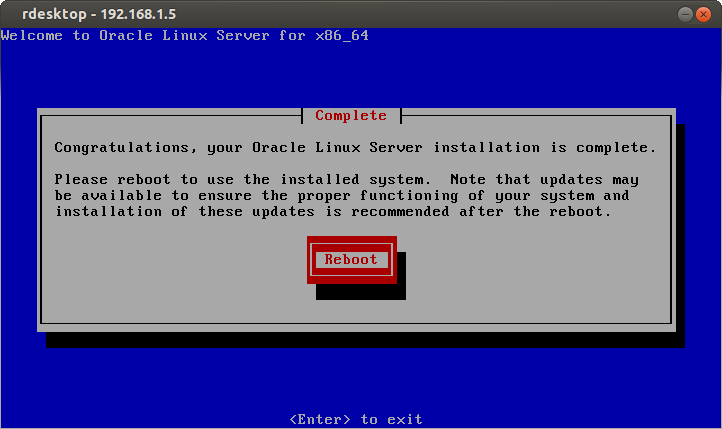 Инсталляция Oracle linux 6.7