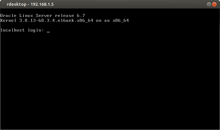 Oracle linux 6.7 Linstallation