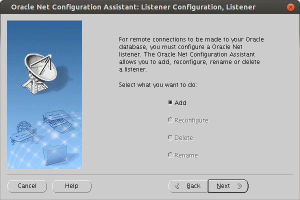Oracle 12 relese 1 Listener installation