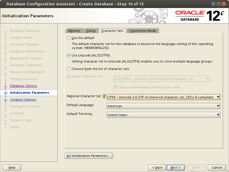 Oracle 12 relese 1 Instance Creation