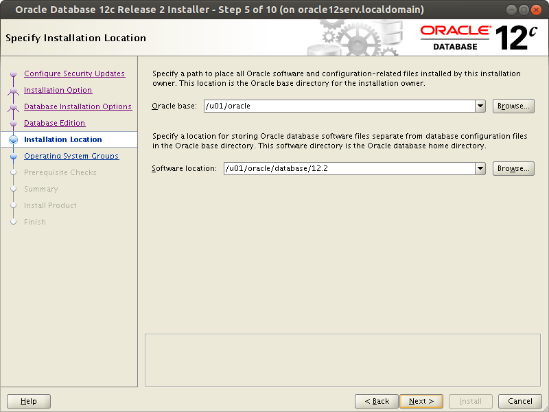 Oracle DataBase 12.2 SoftWare installation