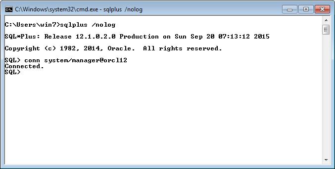 Инсталляция Oracle Client 12C (32 bit) в операционной системе Windows 7 (64 bit)
