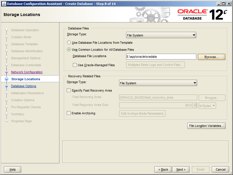 Oracle 12 relese 1 installation on Windows