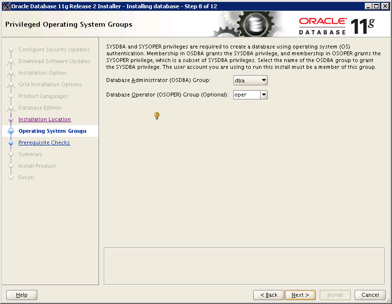 Oracle RAC installation
