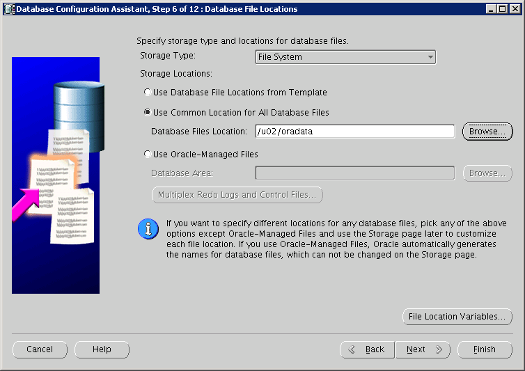 Oracle Instance creation