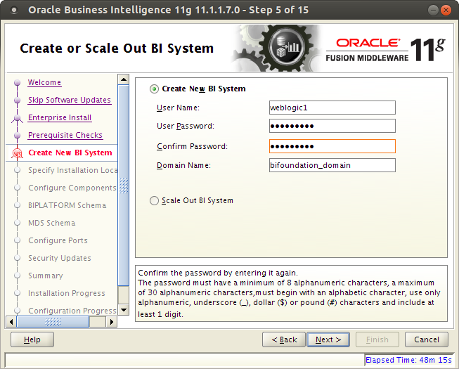 oracle bi installation